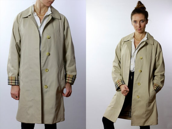BURBERRYS Trenchcoat Vintage Burberry Coat Beige Women Trenchcoat BURBERRY Trench Coat Vintage Coat Burberry Jacket Beige Coat Burberrys C52