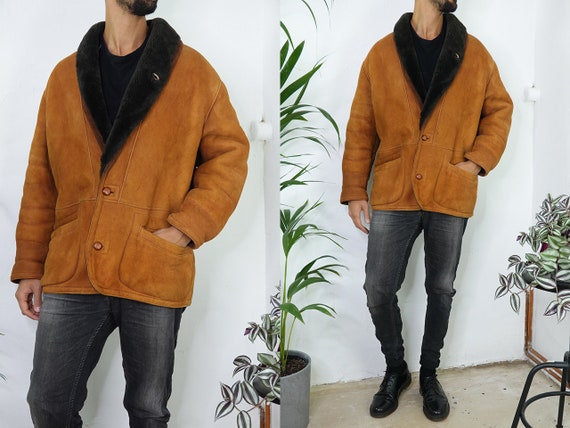 Shearling Jacket Sheepskin Jacket Brown Sherpa Jac
