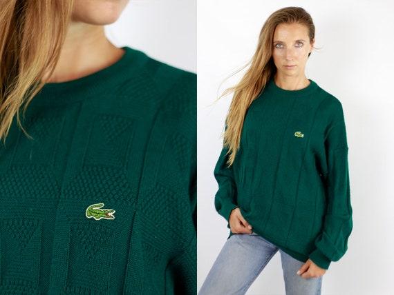 LACOSTE Jumper  Sweater Lacoste Green Lacoste Sweatshirt 90s Sweater Lacoste  Lacoste Vintage  Lacoste Women  Vintage Lacoste  Green WP71