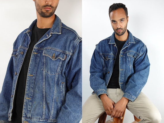 Denim Jacket Vintage Jacket Denim Jacket Oversize Jean Jacket 90s Denim Jacket 90s Jean Jacket Light Jean Jacket Large Jacket Grunge DJ151
