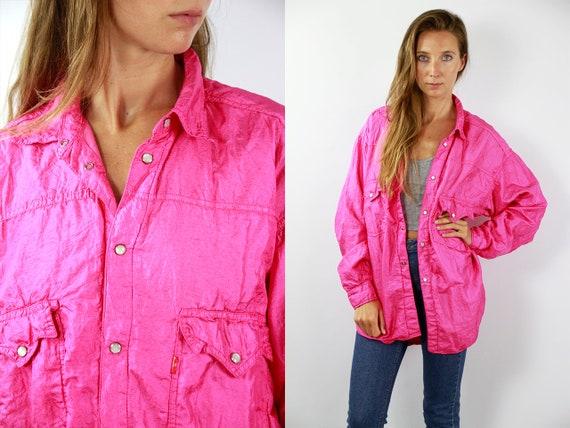 Vintage Windbreaker Pink Jacket Diesel Windbreaker Shell Jacket Pink Windbreaker Vintage Track Jacket 90s Track Jacket Shell Jacket Diesel