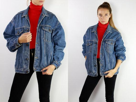 Jean Jacket 90s Denim Jacket Vintage Denim Jacket Oversize Denim Jacket 90s Jean Jacket Casucci Jean Jacket Large Denim Jacket Grunge DJ27