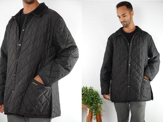 Barbour Jacket Black Barbour Coat Black Barbour Eskdale Quilted Jacket Quilted Coat Corduroy Jacket Light Jacket Vintage Clothing JA69