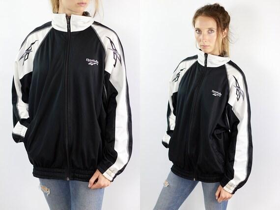 Vintage Track Jacket Vintage Windbreaker Nylon Jacket Vintage Reebok Windbreaker Reebok 90s Reebok Track Jacket Reebok Retro Top Tracksuit