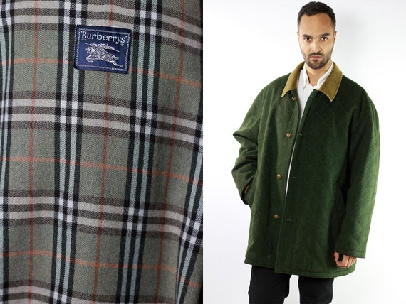 BURBERRYS Coat Green Burberry Duffle Coat Burberry Coat Green Montgomery Coat BURBERRY Coat Trench Coat Vintage Trenchcoat Burberry CO67