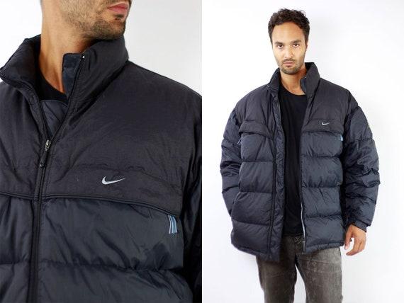 Nike Down Jacket Black Nike Winter Jacket Nike 90s Jacket 90s Puffer Jacket 90s Oversize Down Jacket Black Nike 90s Black Nike jacket J129