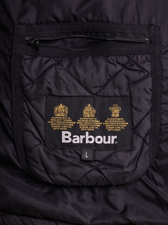 Barbour Jacket Black Quilted Barbour Coat Barbour… - image 5