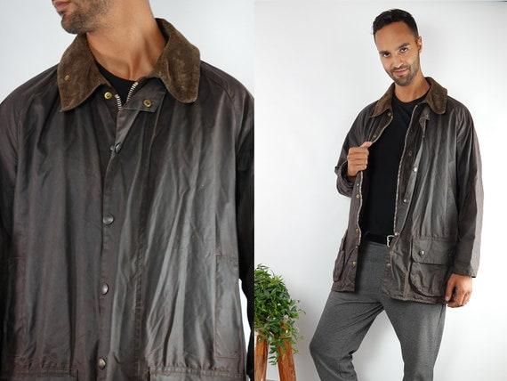 Barbour Coat Barbour Jacket Barbour Wax Jacket Barbour Wax Coat Barbour Brown Jacket Barbour Brown Coat Barbour Beaufort Vintage Jacket CO73