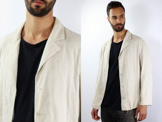 Armani Jacket Vintage Beige Linen Jacket Armani Mens Jacket Beige Jacket Beige Summer Jacket Giorgio Armani Jacket Linen Summer Jacket Men