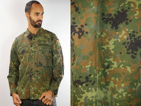 Military Shirt / Vintage Army Shirt / Army Shirt Vintage / Button Shirt Camo / Camo Shirt / Camouflage Shirt / Shirt Military / Shirt Army