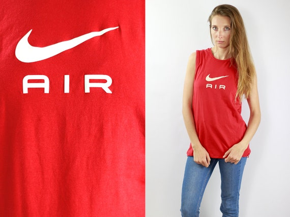 Nike T Shirt Nike T-Shirt Nike Top 90s T Shirt 90s T-Shirt 90s Top Red Tanktop Nike Tanktop Vintage T Shirt Vintage T-Shirt