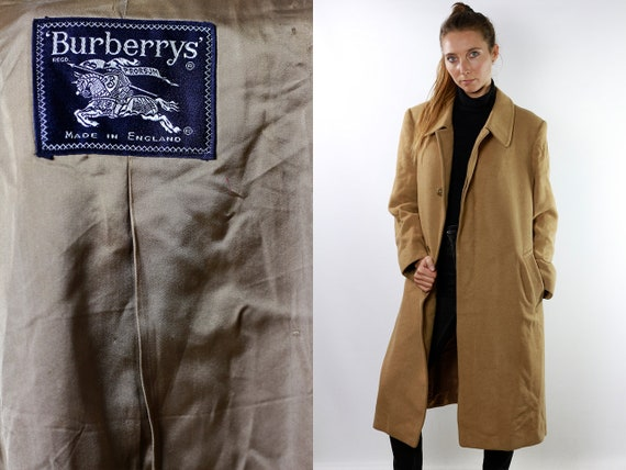 Camel Coat Burberry Coat Beige Wool Coat Burberrys Coat Beige Burberry Wool Coat Women Burberry Coat Camel Hair Coat Long Coat CO66