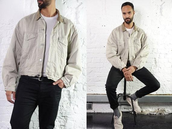 LEVIS Denim Jacket Levis  Blue Jean Jacket Large 90s Warm Denim Jacket Vintage Clothing Second Hand Mens Clothing Grunge Jacket DJ229