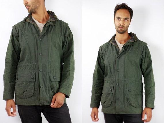 BARBOUR Wax Coat Wax Jacket Vintage Barbour Coat Parka Green Coat Barbour Vintage Jacket Green Wax Coat Barbour Parka Jacket C102