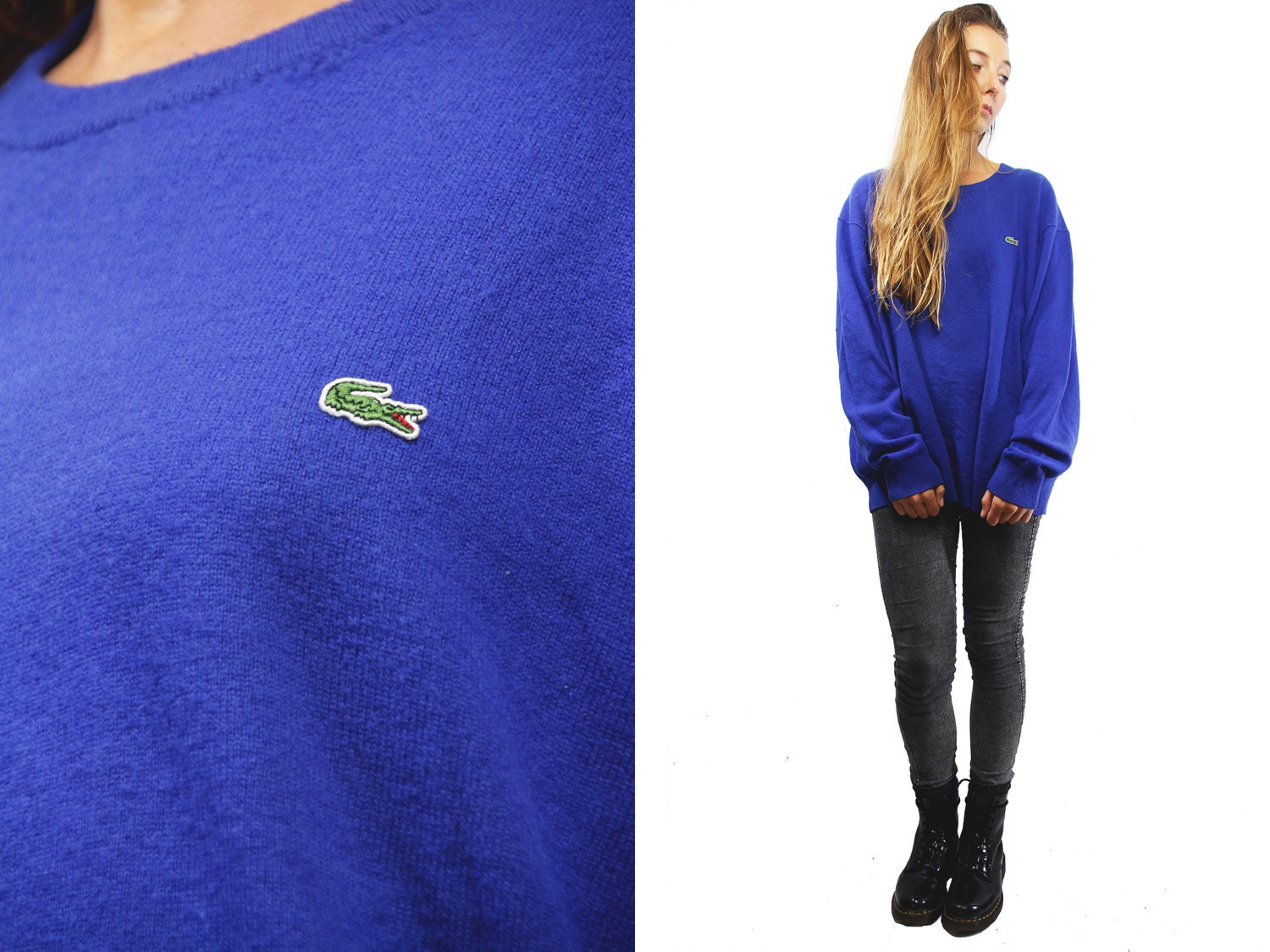 cheapest price size 7 best wholesaler Sweater LACOSTE / Blue Lacoste Jumper / Lacoste Vintage ...