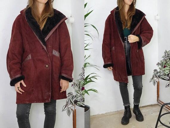 Shearling Jacket Sheepskin Red Sherpa Jacket Shear