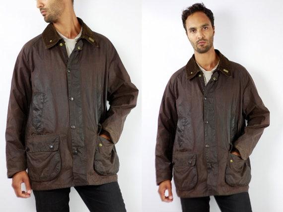 Barbour Jacket Barbour Coat Vintage Wax Jacket Vintage Wax Coat Barbour Bedale Coat Barbour Bedale Jacket Brown Barbour Coat Brown C87