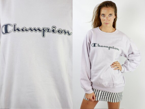Champion Sweatshirt White Champion Sweater 90s Champion 90s Sweater Champion Sweat Shirt Vintage Sweatshirt 90s Sweatshirt 90s Jumper SW209