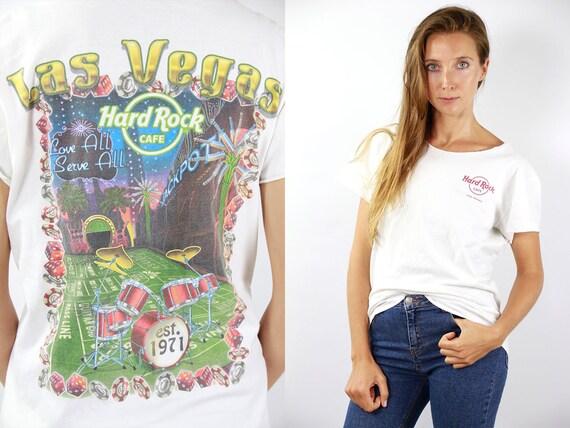 Hard Rock Cafe T-Shirt Hard Rock Cafe Shirt White T-Shirt Hard Rock Cafe Las Vegas Vintage Hard Rock T-Shirt White Prague T-Shirt 90s Shirt