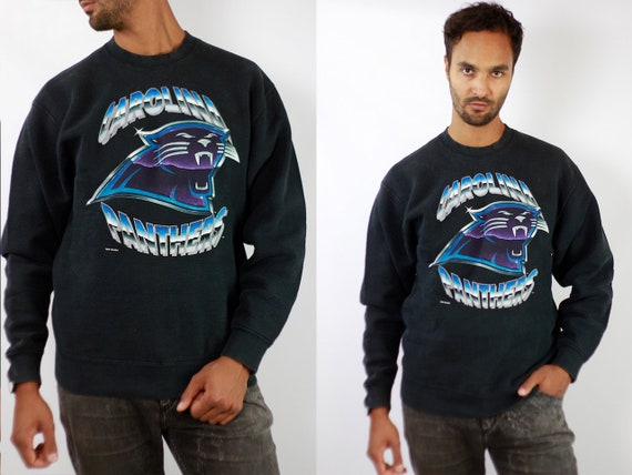 Vintage Sweatshirt Oversize Sweatshirt Black Sweatshirt Vintage Jumper Oversize Jumper 90s Sweatshirt Jumper Carolina Panthers SW198