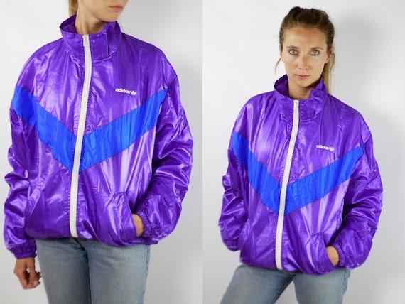 ADIDAS Windbreaker Adidas Purple Jacket Vintage Adidas Windbreaker 90s Windbreaker Adidas 90s Adidas Track Jacket Adidas Retro