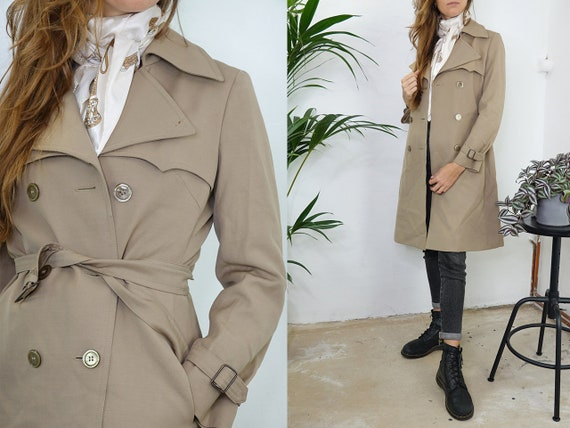Vintage Trench Coat Long Trench Coat Long Coat Bei