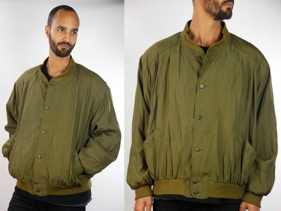 Bomber Jacket / Green Bomber Jacket / 90s Pilot Jacket / 90s Flight Jacket / Green Flight Jacket / Pilot Jacket Flight Jacket 90s Bomber J33
