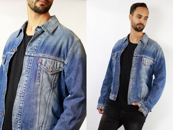 Levis Denim Jacket Vintage Levis Oversize Jean Jacket Large Denim Jacket Levis Jean Jacket Blue Denim Jacket Vintage Clothing DJ93
