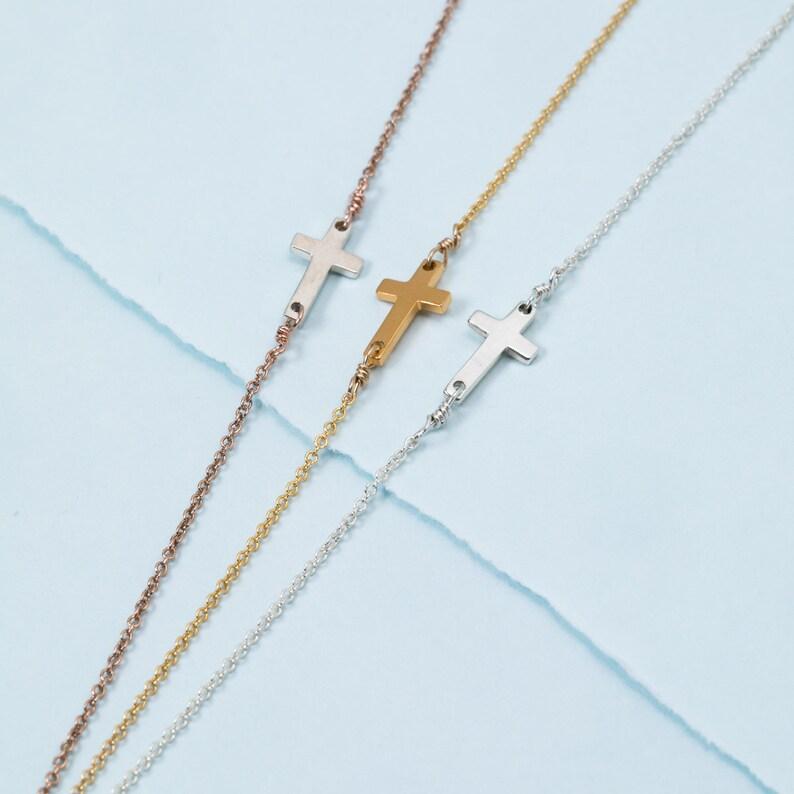 Horizontal Cross Necklace