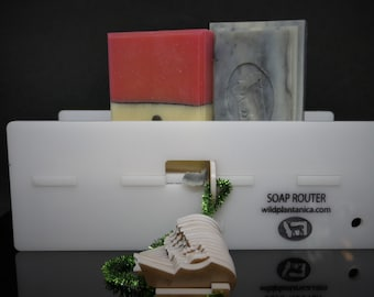 """Soap Beveller Beveling Tool White SOAP ROUTER Edger Tool with 16 designs Left or Right Handed 4"""" or 5"""" You Pick Surface bed Fast and Easy"""