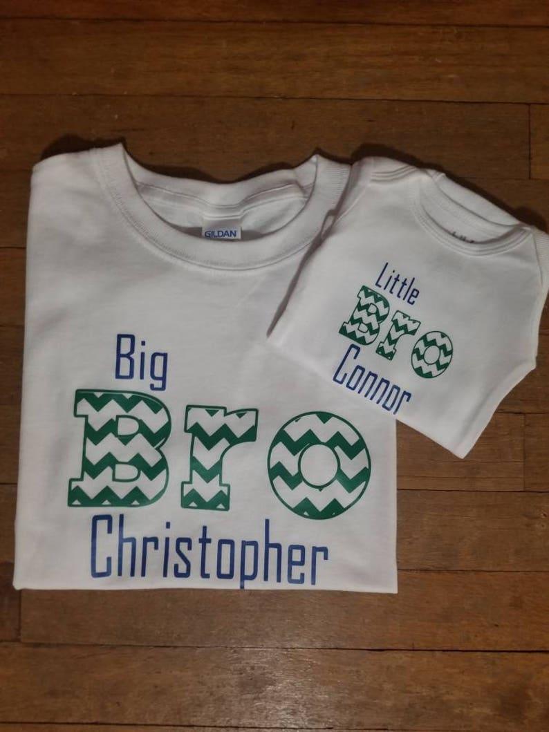 Little bro big bro t-shirt setsibling outfitlittle boy outfitlittle brotherbig brothernewborn outfit long sleeve bodysuit baby gift