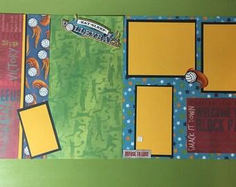 Volleyball2 - 12x12 premade scrapbook layout