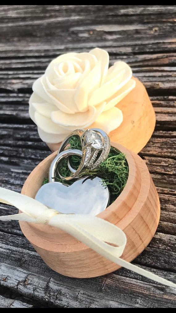 Ring Box Ring Holder Ring Bearer Eedding Ceremony Wedding Ring Etsy