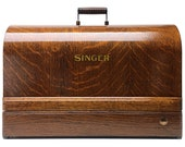 SINGER Sewing Machine Tiger Wood Bentwood Carrying Case for 15 15-91 201 201-2 66 316 Restored by 3FTERS