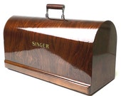 SINGER Sewing Machine Bentwood Carrying Wooden Case Top Cover Lid 20115 15 15-91 201 201-2 66 316 127 27 Restored by 3FTERS