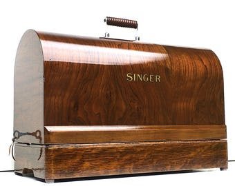 Restored 1930's SINGER Sewing Machine Case Full Size by 3FTERS