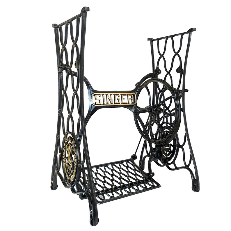 Singer Sewing Machine Treadle Table Cast Iron Stand Legs