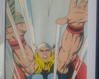 Vintage style Marvel Thor cartoon print.