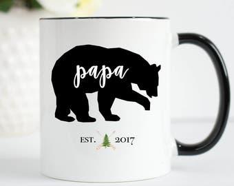Papa Bear Mug, Papa Mug, Father Mug, Dad Mug, Daddy Mug, Papa Bear Established Mug, New Dad Mug, Pops Mug, Father's Day Mug, Dad To Be Mug