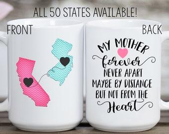 Long Distance Mom Mug, Long Distance Mug, Home Mug, State Mug, Mother Mug, Mother's Day Gift, Gift for Mom, Birthday Gift for Mom, Mom Mug