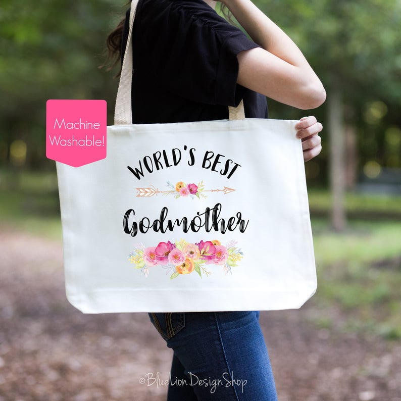 This Girl Is Going To Be a Godmother Christening Shopping Tote Bag For Life