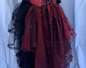 Fairy Tails! Mini Fantasy Tie-on Bustle Tails - add some sparkle & shine to your steampunk, fantasy, cosplay costume!  FREE SHIPPING
