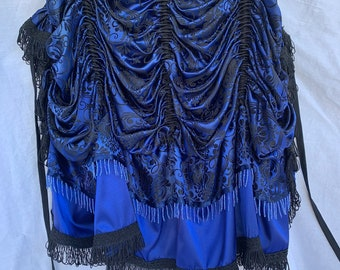 Bustle-Yaya Han cosplay fabric-beautiful royal blue-Steampunk-Victorian-Burlesque-Costume