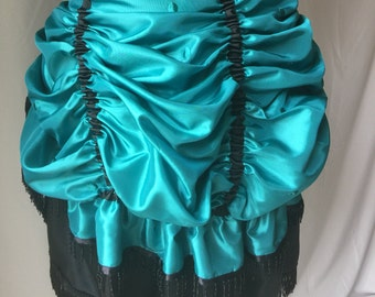 Bustle - Totally stunning Teal Taffeta Tie-On Bustle - Versatile Costume Piece for Steampunk-Victorian-Burlesque-CosPlay-Western