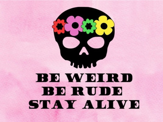 Crime Junkie Decal , Be Weird, Be Rude, Stay Alive , podcast stickers, best  gifts