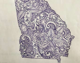 Paisley State Drawing - Georgia