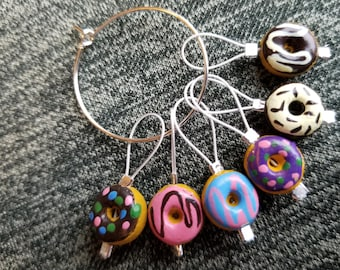 Stitch Markers. Knitting and donuts! Of course!