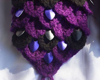 Black and Purple Dragon Scale