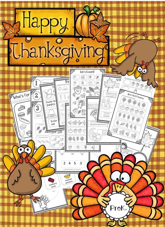 Thanksgiving PreK Package