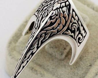 Archer Zighir Turkish Ottoman Sterling Silver 925 Mens Ring